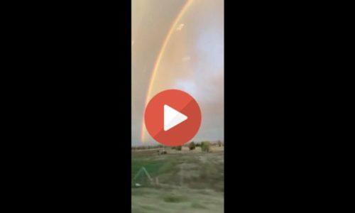 (VIDEO)Srbija : Duga na nebu kao na filmu. Fenomenalno