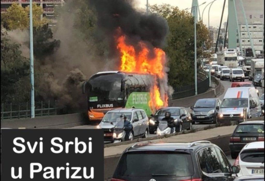 Pariz : Zapalio se autobus na periferiku. Saobraćaj u prekidu