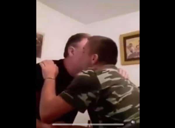 (VIDEO)Čestitao mu slavu pa se desio incident