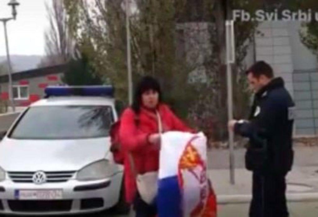 (VIDEO)Evo šta se desilo sa Srpkinjom koju je maltretirao albanski policajac zbog zastave