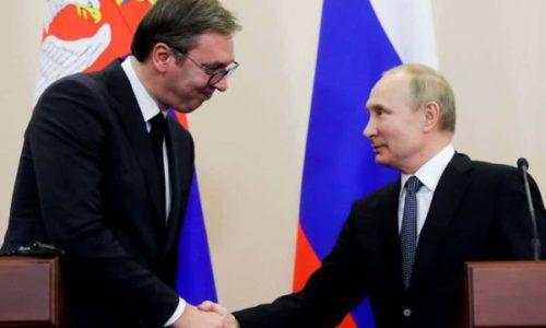 Le président serbe s'est rendu à Sotchi pour rencontrer Vladimir Poutine