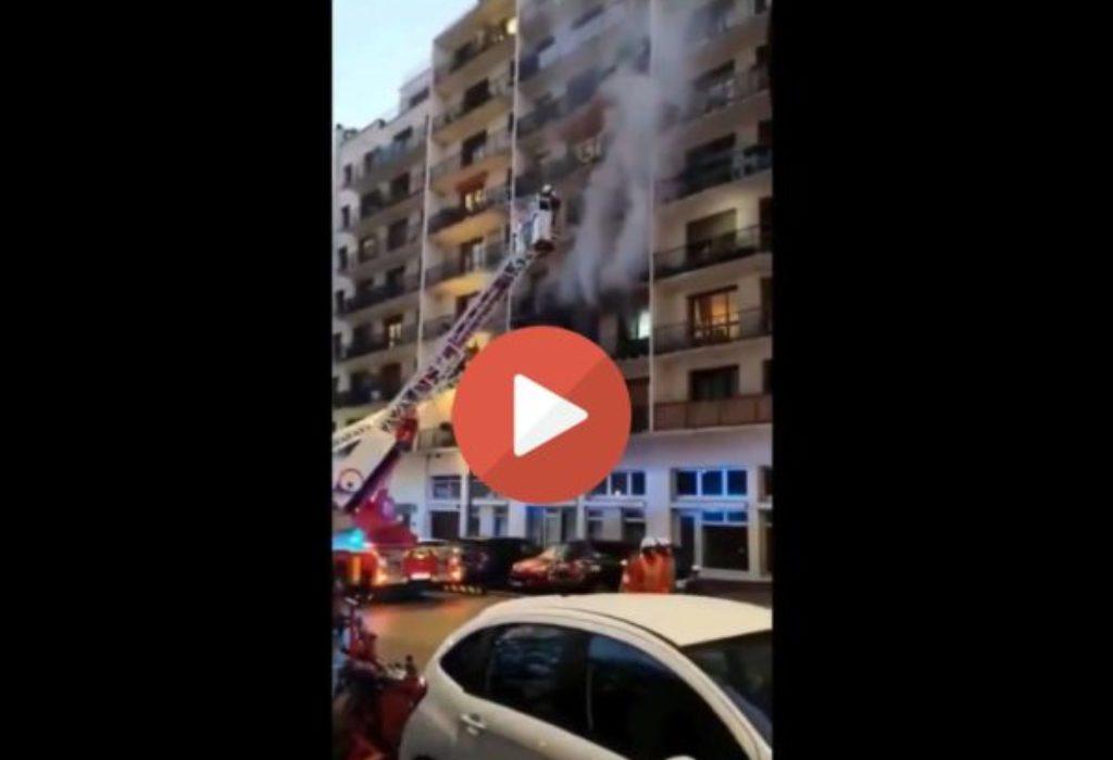 (VIDEO)Pariz : Gori zgrada. Kvart blokiran