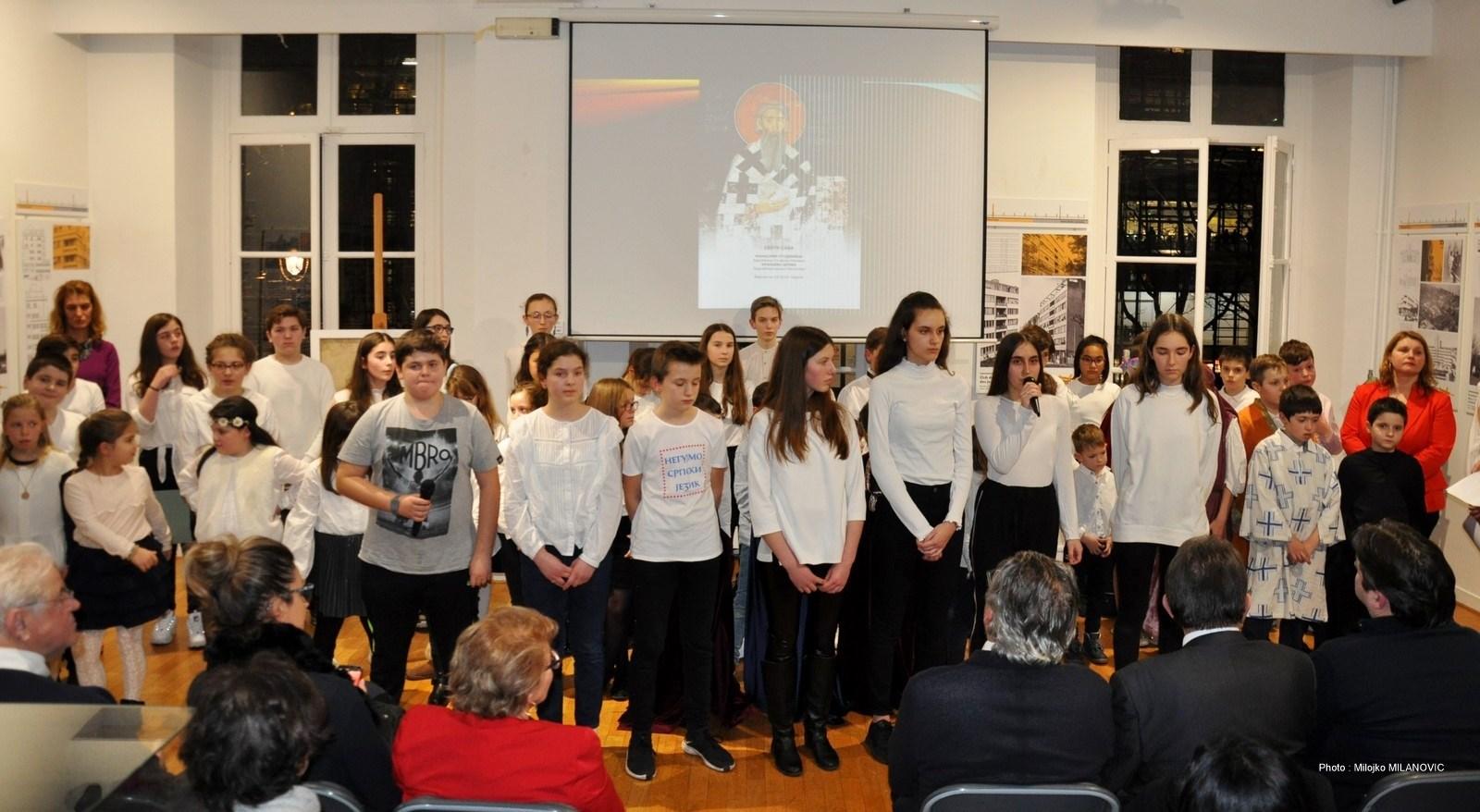 (FOTO)PARIZ : Učenici veličanstveno proslavili Svetog Savu, školsku slavu