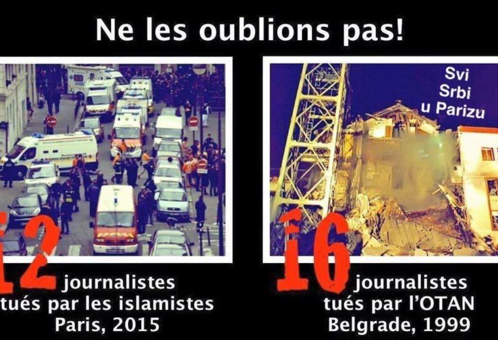 Attentat contre Charlie Hebdo et le bombardement du siège de la RTS par OTAN