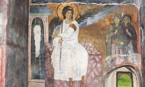 Serbie : Fresque de l'Ange Blanc qui a voyagé au-delà de notre planète