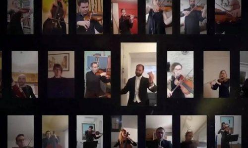 """(VIDEO) L'Orchestre de Serbie a joué """"Bella Ciao"""" pour les Italiens"""