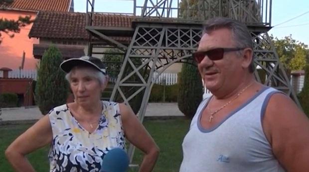 (VIDEO)Srbija : Posle 40 godina života u Parizu, napravio Ajfelovu kulu u svom dvorištu