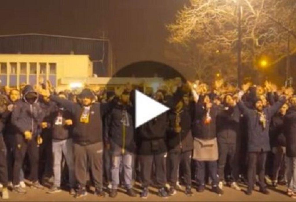 (VIDEO)Pariz : Poslednja počast Milošu od strane navijača PSG-a. Srpska zastava u prvom planu