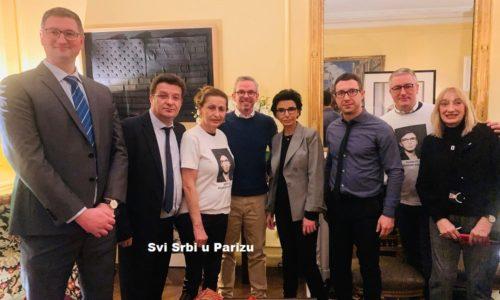 (FOTO) Rašida Dati sa predstavnicima Srba iz Pariza i Francuske