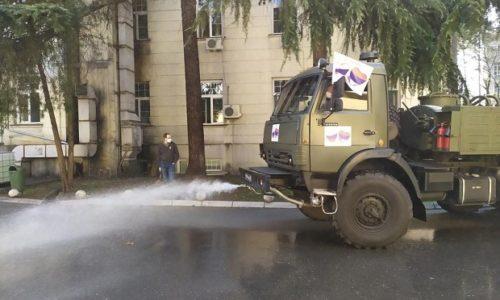 (VIDEO)Serbie : Des militaires russes désinfectent des établissements de santé