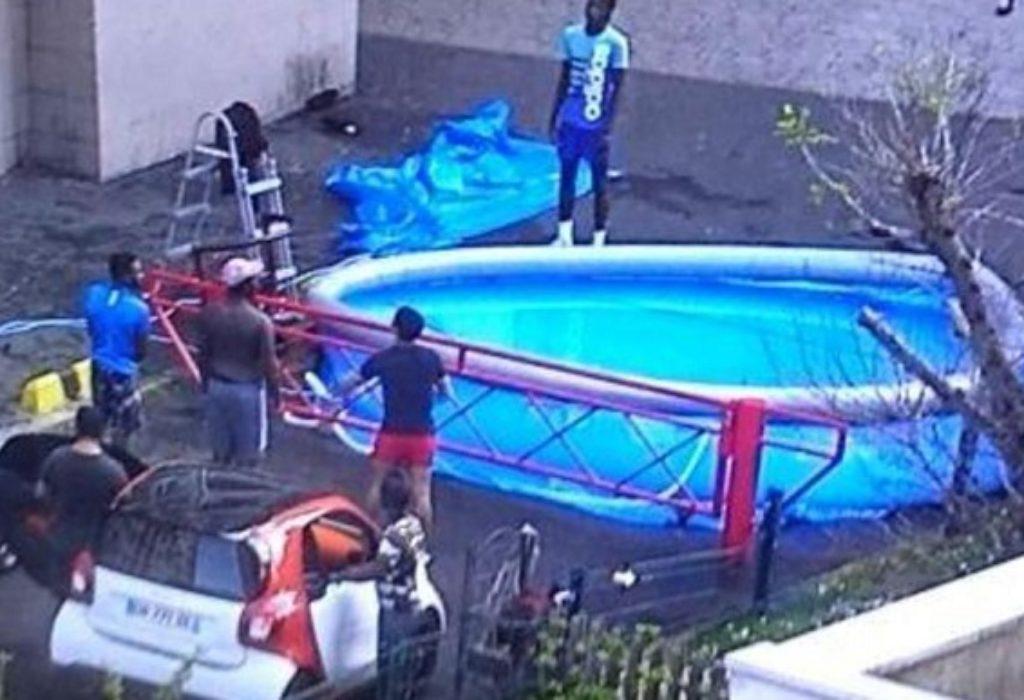 Pariz : Uprkos merama zabrane, postavili bazen ispred zgrade i na vrhu zgrade