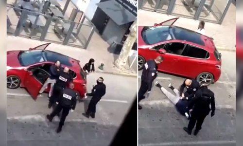 (VIDEO) Francuska : Obična kontrola policije prerasla u tuču
