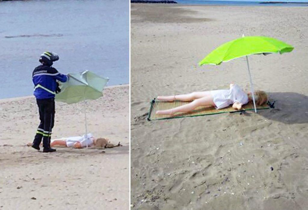 (FOTO)Francuska : Policajci, sa plaže, priveli lutku na naduvavanje. Ipak nisu joj naplatili kaznu