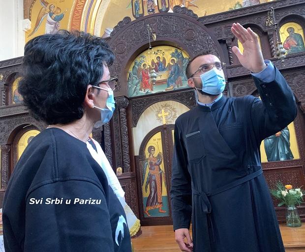 (VIDEO)Rašida Dati posetila crkvu Sveti  Sava i poslala poruku Srbima iz Pariza