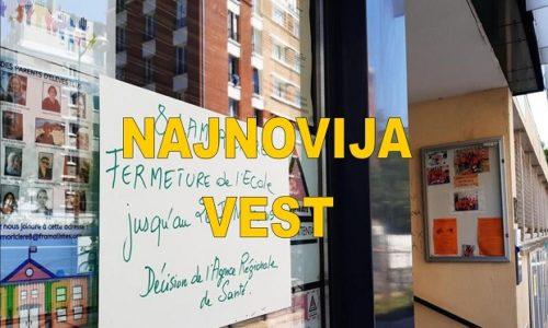 Pariz: Škola zatvorena pojave Korona virusa