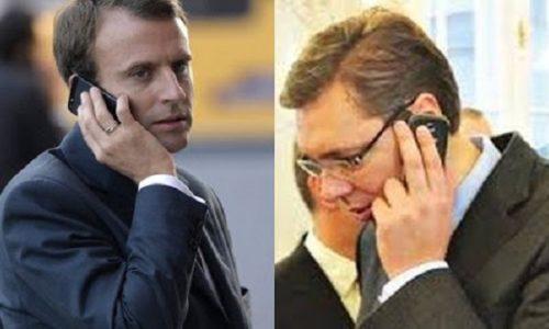 """Aleksandar Vučić : """"Veoma dobar telefonski razgovor sa predsednikom Francuske"""""""
