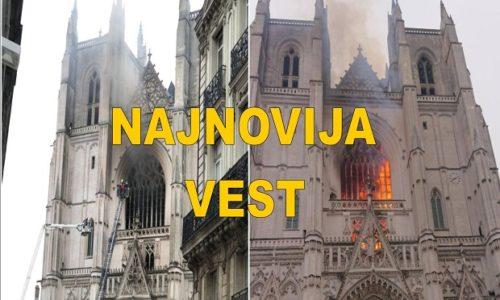 (VIDEO) Francuska : Zapaljena čuvena katedrala