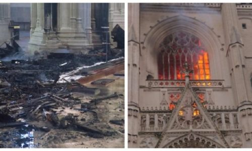 Francuska : Migrant iz Ruande priznao da je zapalio čuvenu crkvu u Nantu
