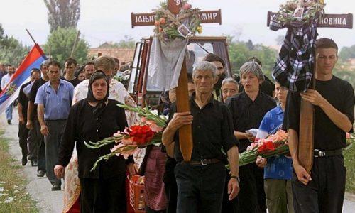 Le 23.juillet 1999. quatorze Serbes ont été tués à Staro Gracko au Kosovo-et-Métochie