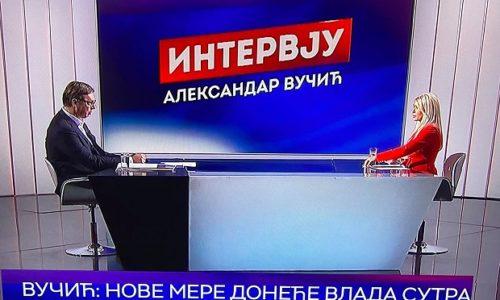 VUČIĆ NA RTS-u : U Beogradu najgora situacija ali ga nećemo za sada zatvarati