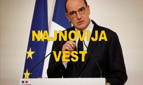 """Premijer: """"Nedelje koje dolaze biće teške"""". Francuska se sve više zatvara."""