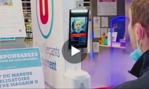 (VIDEO)Francuska: Mašina skenira lice, proveri masku i onda možete ući u prodavnicu