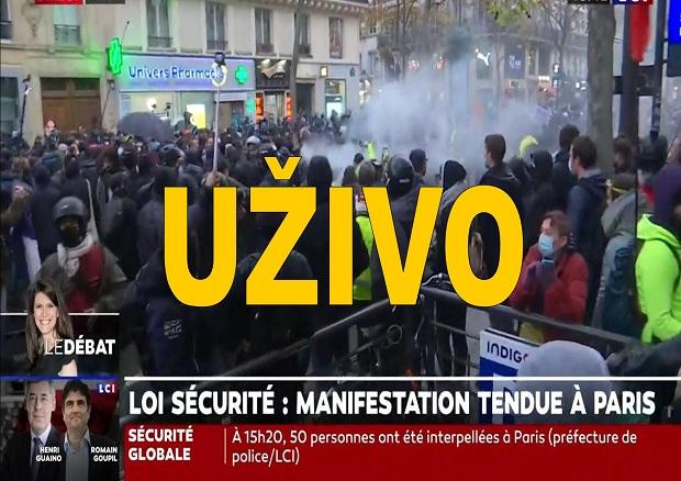 UŽIVO. Protesti u Parizu. Velike policijske snage. Prvi sukobi