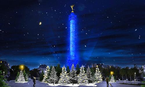 Pariz: Trg Bastilje osvetljen kao u bajci za praznike