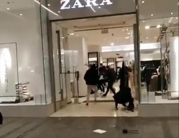 (VIDEO)Migranti opljačkali prodavnicu Zara u Beogradu? Obezbeđenje nemoćno