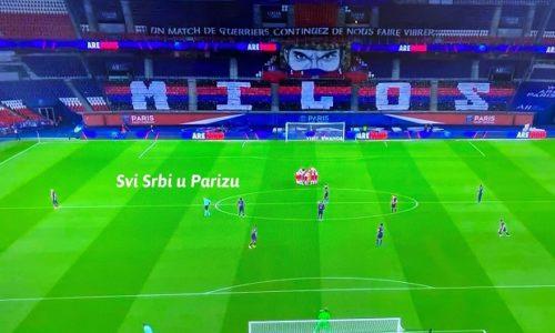 PSG nije zaboravio preminulog Srbina. Natpis MILOŠ večeras prekriva celu tribinu