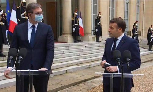 (VIDEO)Makron: Dragi Aleksandre, ovaj narod ovde, voli vaš narod