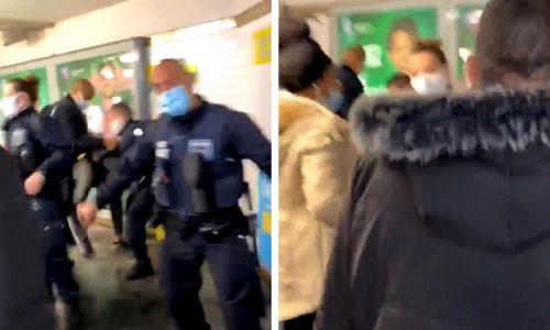 (VIDEO)Pariz: Haos. Kontrola maski se završila suzavcem u metro-u